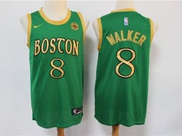 Mens 2019-20 Nba Boston Celtics #8 Kemba Walker Green City Edition Swingman Jersey