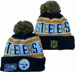 Mens Nfl Pittsburgh Steelers Black&yellow&white Sport Knit Hats