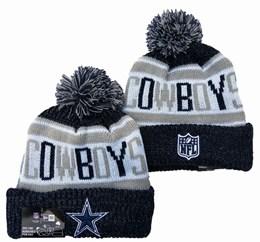 Mens Nfl Dallas Cowboys White&blue&gray Sport Knit Hats