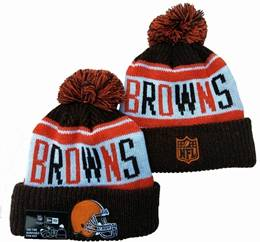 Mens Nfl Cleveland Browns Brown&orange&white Sport Knit Hats