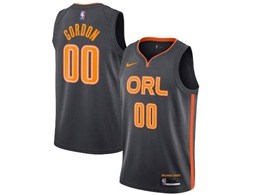 Mens 2019-20 Season Nba Orlando Magic #00 Aaron Gordon Black Nike City Edition Swingman Jersey