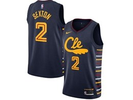 Mens 2019-20 Nba Cleveland Cavaliers #2 Collin Sexton Black Nike City Edition Swingman Jersey