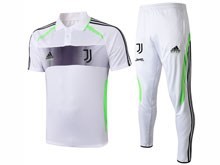 Mens 19-20 Soccer Juventus Club Earthy White Short Sleeves And White Sweat Pants Training Suit ( Printing )
