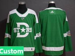 Mens Adidas Dallas Stars Custom Made Green 2019 Winter Classic Adidas Jersey