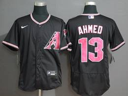 Mens Mlb Arizona Diamondbacks #13 Nick Ahmed Black Flex Base Nike Jersey