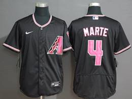 Mens Mlb Arizona Diamondbacks #4 Ketel Marte Black Flex Base Nike Jersey