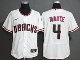 Mens Mlb Arizona Diamondbacks #4 Ketel Marte White Flex Base Nike Jersey