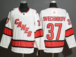 Mens Nhl Carolina Hurricanes #37 Andrei Svechnikov White Away Breakaway Player Jersey