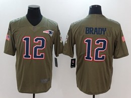 Mens New England Patriots #12 Tom Brady Green Usa Flag Vapor Untouchable Limited Jerseys