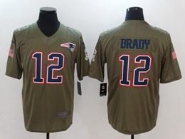 Mens New England Patriots #12 Tom Brady Green Usa Flag Vapor Untouchable Limited Jerseys