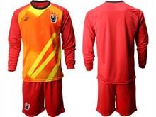 Mens Soccer Tottenham Hotspur Club ( Custom Made ) Red Eurocup 2020 Goalkeeper Long Sleeve Suit Jersey