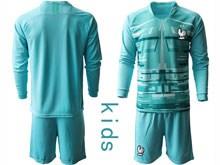Youth Soccer Tottenham Hotspur Club ( Custom Made ) Blue Eurocup 2020 Goalkeeper Long Sleeve Suit Jersey