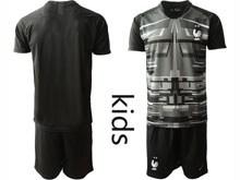 Youth Soccer Tottenham Hotspur Club ( Custom Made ) Black Eurocup 2020 Goalkeeper Short Sleeve Suit Jersey