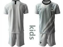 Youth Soccer Tottenham Hotspur Club ( Custom Made ) Gray Eurocup 2020 Goalkeeper Short Sleeve Suit Jersey
