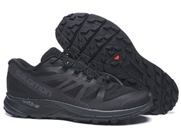 Mens Salomon Vibe Black Running Shoes