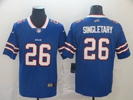 Mens Nfl Buffalo Bills #26 Singletary Blue Vapor Untouchable Limited Player Jerseys