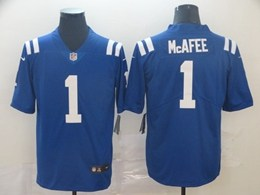 Mens Nfl Indianapolis Colts #1 Pat Mcafee Blue Vapor Untouchable Limited Jersey