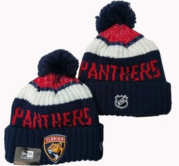 Mens Nhl Florida Panthers Blue&red&white Sport Knit Hats