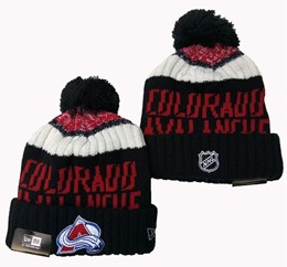 Mens Nhl Colorado Avalanche Black&white&red Sport Knit Hats
