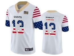 Mens Nfl New Orleans Saints #13 Michael Thomas White Retro Usa Flag Vapor Untouchable Limited Jersey
