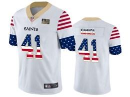Mens Nfl New Orleans Saints #41 Alvin Kamara White Retro Usa Flag Vapor Untouchable Limited Jersey