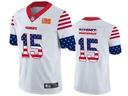 Mens Nfl Kansas City Chiefs #15 Patrick Mahomes White Retro Usa Flag Vapor Untouchable Limited Jersey