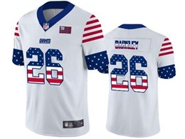 Mens Nfl New York Giants #26 Saquon Barkley White Retro Usa Flag Vapor Untouchable Limited Jersey