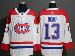 Mens Montreal Canadiens #13 Max Domi White Adidas Jersey