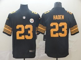 Mens Pittsburgh Steelers #23 Joe Haden Black Color Rush Vapor Untouchable Limited Player Jersey