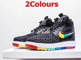 Mens And Women Nike Air Force 2 High Running Colorful Shoes 2 Colors