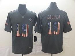 Mens Nfl Dallas Cowboys #19 Amari Cooper Black Pays Tribute To Retro Flag Carbon Nike Limited Jerseys