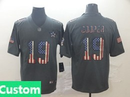 Mens Nfl Dallas Cowboys Custom Made Black Pays Tribute To Retro Flag Carbon Nike Limited Jerseysy