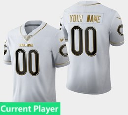 Mens Nfl Chicago Bears Current Player White Golden 100th Vapor Untouchable Limited Jersey