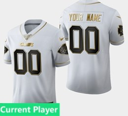 Mens Nfl Kansas City Chiefs Current Player White Golden 100th Vapor Untouchable Limited Jersey