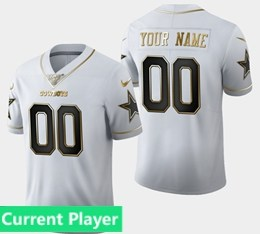 Mens Nfl Dallas Cowboys Current Player White Golden 100th Vapor Untouchable Limited Jersey