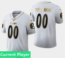 Mens Nfl Pittsburgh Steelers Current Player White Golden 100th Vapor Untouchable Limited Jersey