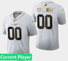 Mens Nfl Buffalo Bills Current Player White Golden 100th Vapor Untouchable Limited Jersey