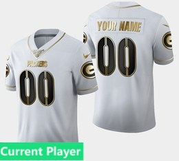 Mens Nfl Green Bay Packers Current Player White Golden 100th Vapor Untouchable Limited Jersey