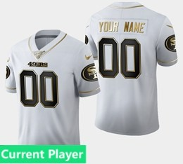 Mens Nfl San Francisco 49ers Current Player White Golden 100th Vapor Untouchable Limited Jersey
