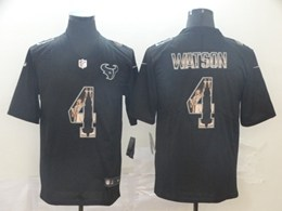 Mens Nfl Houston Texans #4 Deshaun Watson Black Statue Of Liberty Vapor Untouchable Limited Jerseys