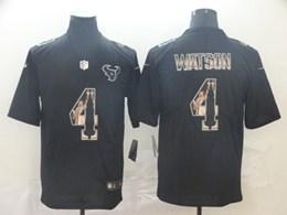 Mens Nfl Houston Texans #4 Deshaun Watson Black Statue Of Liberty Vapor Untouchable Limited Jerseys
