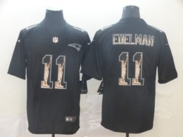 Mens Nfl New England Patriots #11 Julian Edelman Black Statue Of Liberty Vapor Untouchable Limited Jerseys