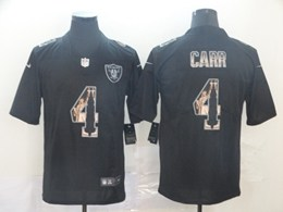 Mens Nfl Oakland Raiders #4 Derek Carr Black Statue Of Liberty Vapor Untouchable Limited Jerseys
