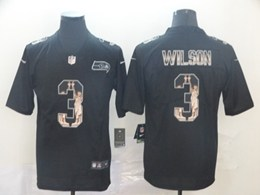Mens Nfl Seattle Seahawks #3 Russell Wilson Black Statue Of Liberty Vapor Untouchable Limited Jerseys