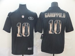 Mens Nfl San Francisco 49ers #10 Jimmy Garoppolo Black Statue Of Liberty Vapor Untouchable Limited Jerseys