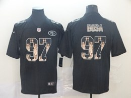 Mens Nfl San Francisco 49ers #97 Nick Bosa Black Statue Of Liberty Vapor Untouchable Limited Jerseys