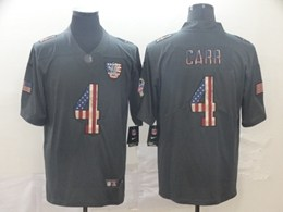 Mens Nfl Oakland Raiders #4 Derek Carr Black Pays Tribute To Retro Flag Carbon Nike Limited Jerseys