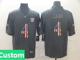 Mens Nfl Oakland Raiders Custom Made Black Pays Tribute To Retro Flag Carbon Nike Limited Jerseys