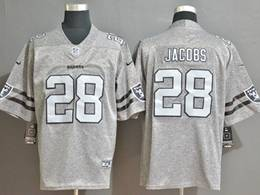 Mens Nfl Oakland Raiders #28 Josh Jacobs Heather Grey Retro Vapor Untouchable Limited Jersey
