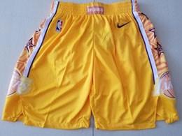 Mens Nba Los Angeles Lakers Nike 2019-20 Gold City Edition Shorts